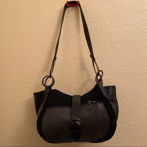 ZOOMP Leather Suede Made in Brazil Handbag Retro